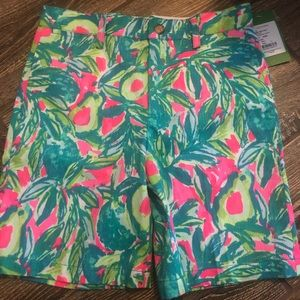 Lilly Pulitzer Size 7 Boys Guac and Roll Shorts